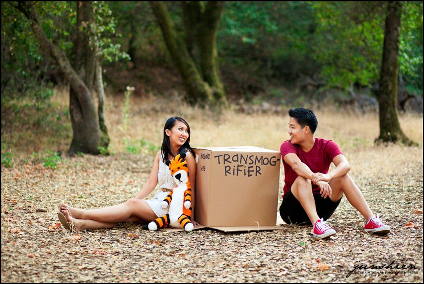 themed engagement photographer styled engagement session photography calvin and hobbes inspired engagement session bay area wedding photography bay area wedding photographer blog